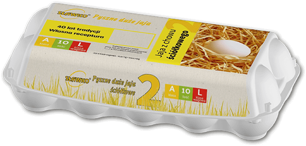 Sławko - menu - jaja z chowu ściółkowego